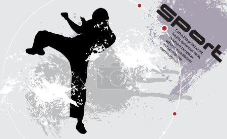 Karate illustartion