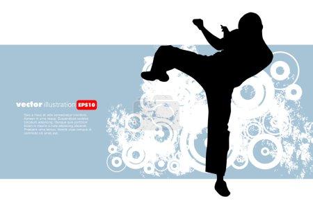 Karate warrior illustration