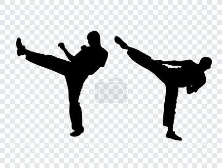 Karate warriors illustration