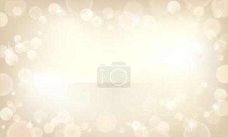 Illustration pour Beau fond bokeh dans une couleur champagne . - image libre de droit