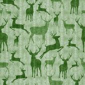 Reindeer vintage seamless pattern background