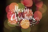 Merry christmas greeting card bokeh light abstract