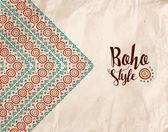 Boho style paper texture tribal handmade design