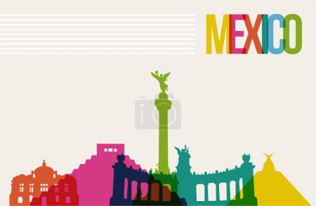 Travel Mexico destination landmarks skyline background