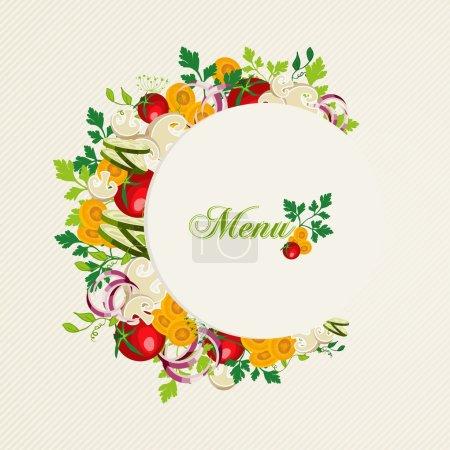 Vegetarian food menu illustration