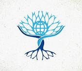 Global community world tree concept