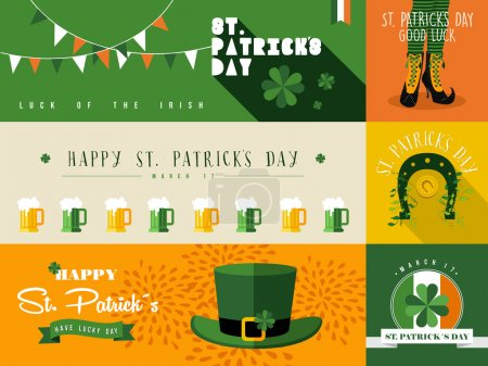 Illustration de bannière Happy St Patricks day