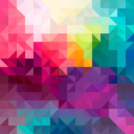 Illustration for Colorful abstract geometric seamless pattern background with triangles and polygons shapes. Ideal for web and app template, book cover, fabric and wrapping paper design. - Royalty Free Image
