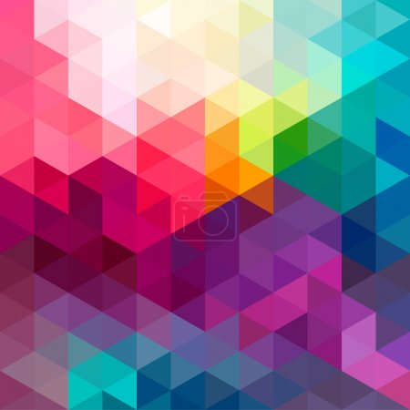 Illustration for Abstract colorful geometric seamless pattern background with triangles and polygons shapes. Ideal for web and app template, book cover, fabric and gift wrap design. - Royalty Free Image