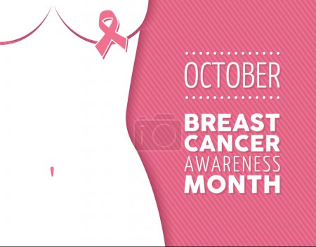 Breast cancer awareness campaign woman background