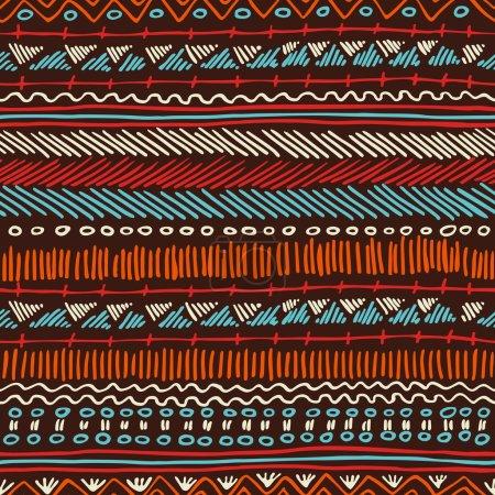 Boho seamless pattern tribal vintage background