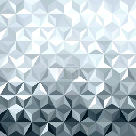 Illustration for Metal silver seamless pattern in low polygon 3d design. Ideal for web background, print, or greeting card. EPS10 vector. - Royalty Free Image