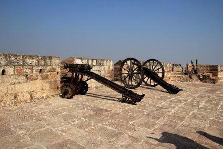 Guns on Terrace of Fort