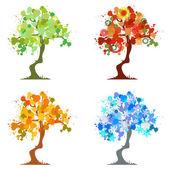Abstraktní strom - grafické prvky - čtyři roční období