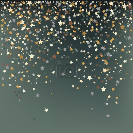 Illustration for Confetti, New Year's celebration - vector background - Royalty Free Image