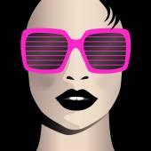 Glamor girl wears sunglasses Celebrity