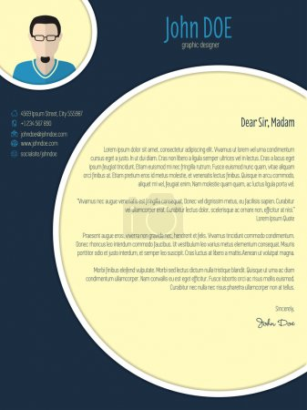 Cool new modern cover letter template