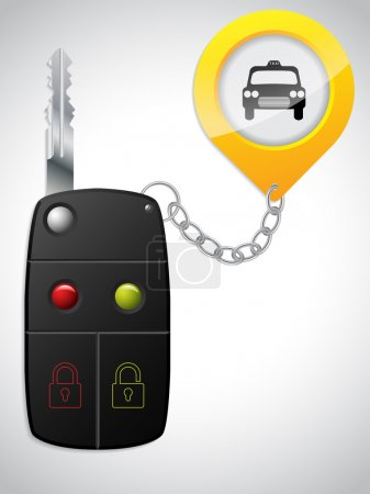 Car remote with taxi keyholder