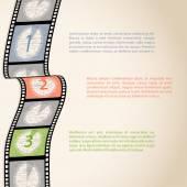 Filmový pás odpočítávání infographic