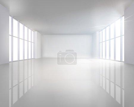 Illustration for Illustration of empty room. Vector illustration. - Royalty Free Image