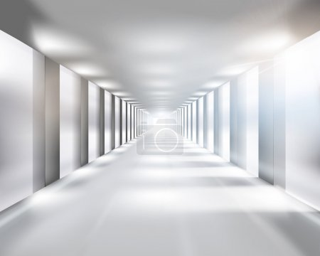 Long passage. Vector illustration.