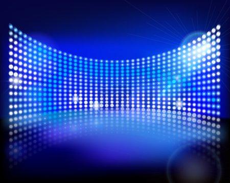 Illustration pour Grand écran LED sur scène. Illustration vectorielle . - image libre de droit