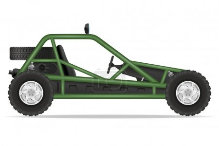 Atv car buggy off roads vector illustration