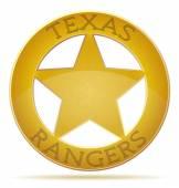 star texas ranger vector illustration