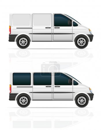 Van for the carriage of cargo and passengers vecto...