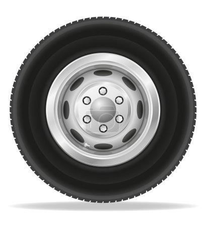 Wheel for truck tracktor and van vector illustration