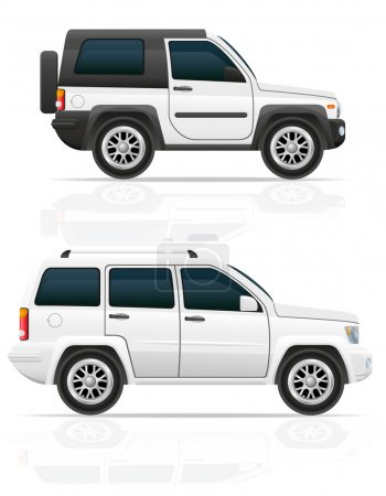 car jeep off road suv vector illustration