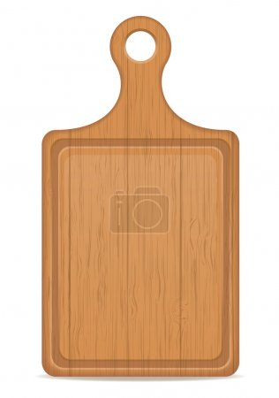 Wooden cutting board vector illustration isolated ...