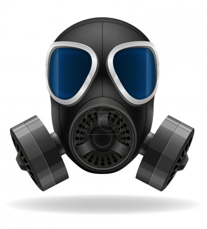 Illustration for Gas mask vector illustration isolated on white background - Royalty Free Image
