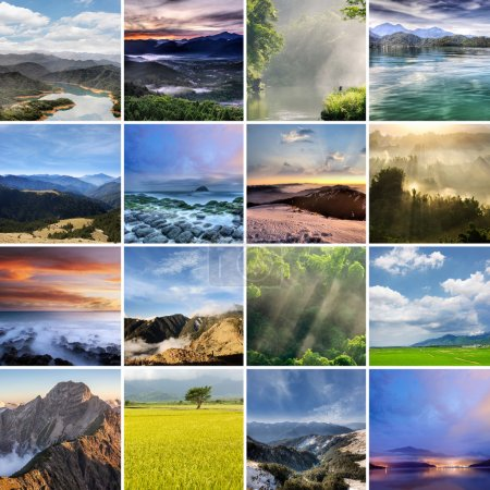 Landscape collection of Taiwan