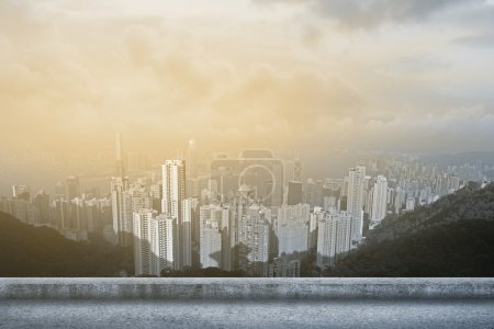 Photo for Hong Kong city skyline with skyscraper. - Royalty Free Image