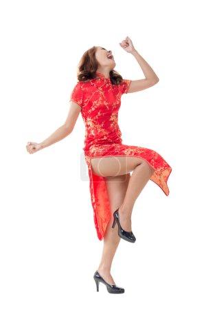 Chinese woman at new year