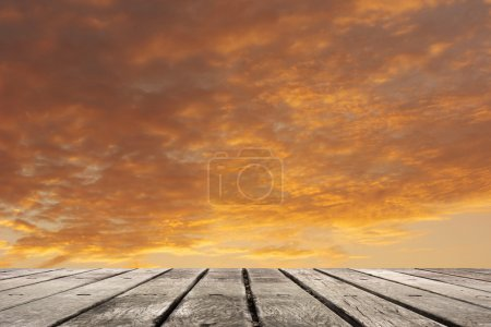 Photo for Scenic of clouds on heaven above the ground. Good background for you to put text or people on the ground. - Royalty Free Image