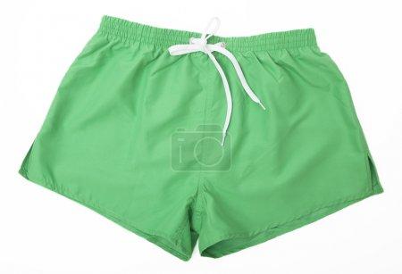 Green sport shorts