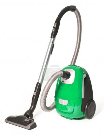 Green Vacuum Cleaner isolated on white background...