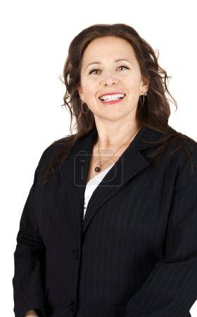 Photo pour Portrait vertical d'une femme professionnelle souriante - image libre de droit