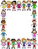 Seamless kids friendship pattern 2