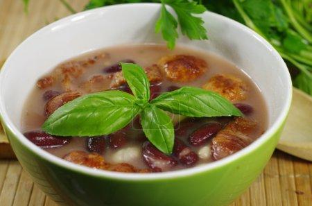 appetizing bean soup