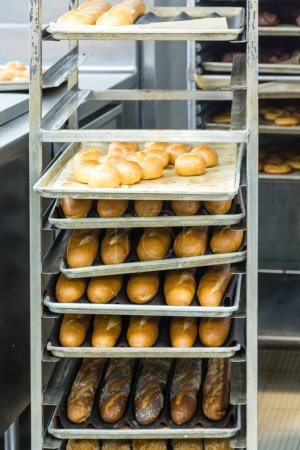 Loaves of Bread in Commercial Kitchen