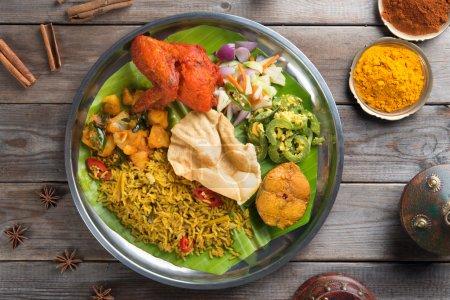 Biryani rice with setting