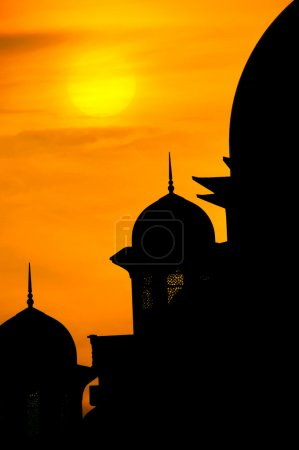 Mosque silhouette view