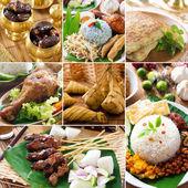 Kollázs finom ramadan élelmiszer