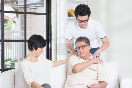 Senior man shoulder pain