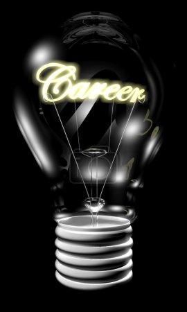 Bulb with career light