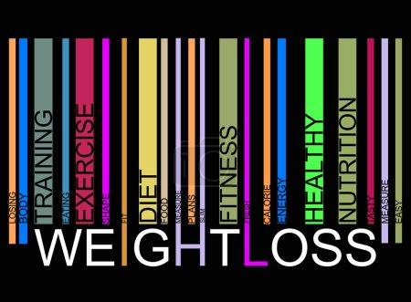 Weightloss  text barcode