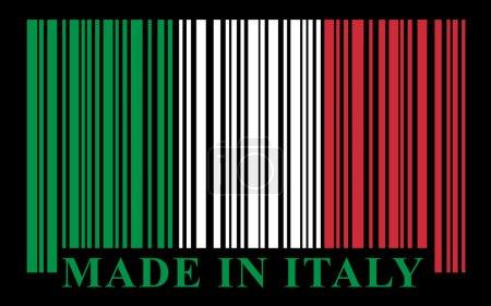 Illustration pour Drapeau italien code-barres, illustration vectorielle - image libre de droit